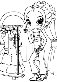 Free People Girl Coloring Page Lisa Frank Glamour Best Free