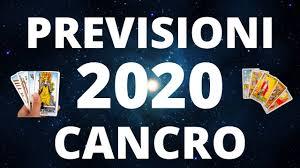 CANCRO PREVISIONI 2020 - LETTURA TAROCCHI EVOLUTIVA