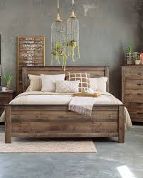 Black Exterior Wall Plus Four Piece Rustic Farmhouse Bedroom Set In Brown  Mathis Brothers