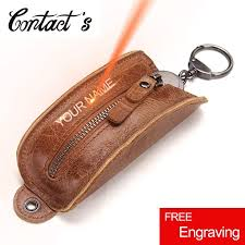 2019 key organizer genuine leather keychain wallet men and women multifunctional car key pouch luxury brand pillow housekeeper