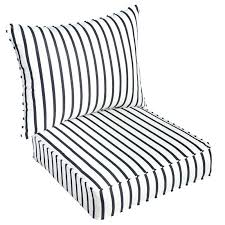 lounge chair cushions sunbrella stripe indoor outdoor cushion replacement