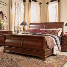 King Sleigh Bedroom Sets | Sleigh Bed Frame | Cherry Sleigh Bed