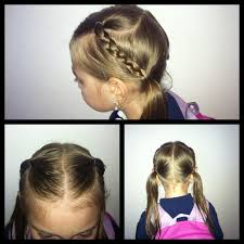 Easy little girl hairstyle. Cute and simple, my daughter likes ...