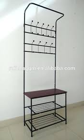 hallway coat and shoe storage cushion bench metal foyer hall tree entryway hat shoe storage coat