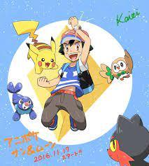 Light brown (@ameiro_pk)   Twitter   Pokemon moon, Pokemon funny, Ash  pokemon