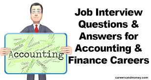 how to answer job interview questions job interview questions and answers for accounting and finance