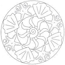 Mandala Coloring Page Sea By Moldovancsaba