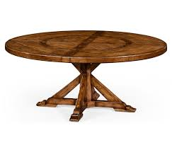 30 Inch Round Kitchen Table Country Style Walnut Round Dining Table Inbuilt Lazy Susan 72 X