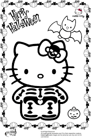 Small Picture hello kitty halloween skeleton coloring page free printable
