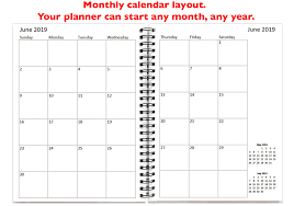 Monthly Calendar Notebook Personalize This 12 Month Calendar And Notebook
