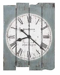 howard miller oversized planke wood wall clock