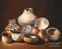 Native American Pottery Painting By Ekaterina Stoyanova