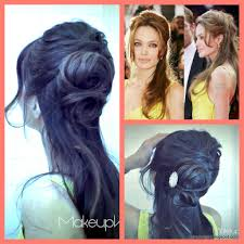 Angelina Jolie Hair Style angelina jolie inspired how to flower bun chignon updo hairstyles 8514 by stevesalt.us