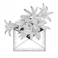 королевские лилии тату конверт с цветами королевской лилии