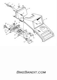 1995 polaris 300 4x4 w958130 headlight assembly 4x4 300 w958130