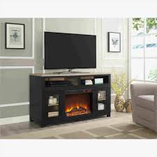 noir electric fireplace tv stand