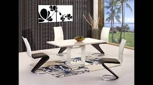 white high gloss black glass dining table and 6 chairs set