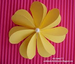 Chart Paper Flowers Step By Step Cards Crafts Kids Projects Paper Flower Tutorials 14