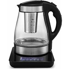gourmia gdk385 multi function digital tea kettle programmable touch screen time temperature with real