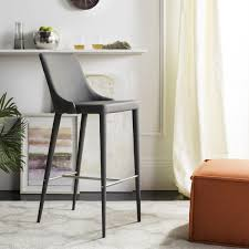 stools design cool gray leather bar home buy with bench and shelf high gray leather bar stools2