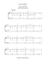 I know that this song isn't as good as the original, because one. Love Letters Sheet Music Elvis Presley Piano Solo