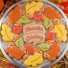 Message Cookie Designs How To Make An Autumn Wreath Cookie Platter