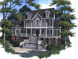 plantation house plans. Beautiful Plans TwoStory Southern Plantation House With Grand Front Staircase Throughout Plans O