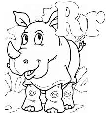 Small Picture Letter R coloring pages to download and print for free