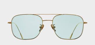 Light Lens Sunglasses 1267 Gold Plated With Pale Light Blue Lens Sunglasses