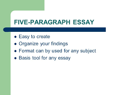 five paragraph essay easy to create organize your findings format 1 five paragraph essay easy to create organize your findings format can by used for any subject basis tool for any essay