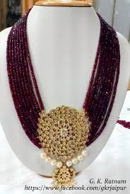Polki Pendant Set Designs A Royal Diamond Polki Pendant Set With Rubies Beaded