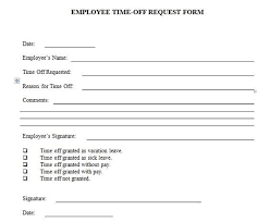 Days Off Request Form Template Employee Holiday Request Form Template Employee Time Off Request