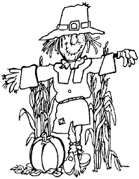 thanksgiving scarecrow coloring pages thanksgiving coloring