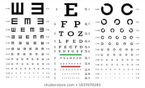 Eye Charts For Eye Exams Eye Test Chart Images Stock Photos Vectors Shutterstock