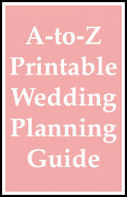 Printable Wedding Planner A To Z Printable Wedding Planning Guide