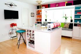 arts crafts home office. Arts And Crafts Room Attic Craft Ideas Home Office Contemporary With White Walls Wall Mounted C