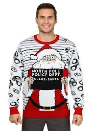 Men\u0027s Free Santa Christmas Sweater Ugly