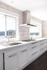modern white cabinets kitchen.  Modern No Upper Cabinets U2013 Contemporary Kitchen Moeski Design Agency Intended Modern White Kitchen