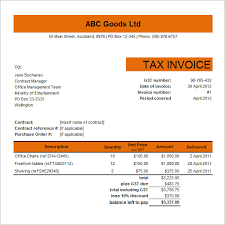Tax Invoice Examples Free Tax Invoice Template Excel Printable Receipt Template