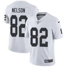 Camiseta Mil com - Nfl Nelson Blanca Anuncios Raiders