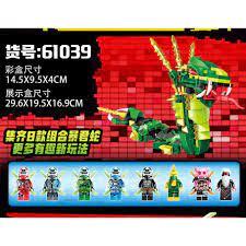 Đồ chơi lắp ráp Non lego Ninjago season phần 12 Ninja xếp hình rắn xanh lá  cây khổng lồ PRCK 61039 trọn bộ 8 hộp