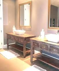 reclaimed wood vanity bathroom with shelf lights 36 bonner reclaimed wood vanity