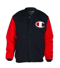 Champion Varsity Letterman Jacket Long Sleeves Embroidered