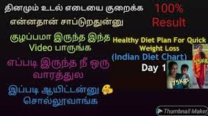 Diet Chart For Weight Loss After C Section My Weight Loss Journey In Tamil How I Lost 75kgs To 55kgs