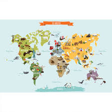 the world map poster wall sticker large