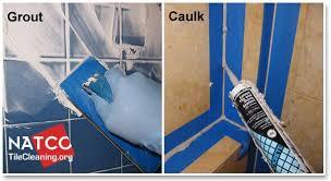 grout vs caulk in shower