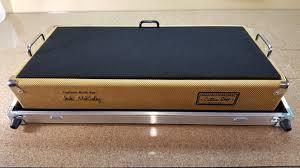 custom tweed pedalboard