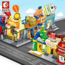 LEGO Bộ Đồ Chơi Lắp Ráp Mô Hình Tòa Nhà Thành Phố Mini Cho Bé chính hãng
