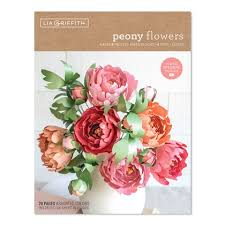 Paper Flower Kit Peony Flowers Frosted Paper Flower Kit