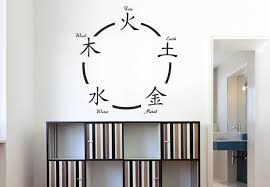 chinese five elements wall decal oriental symbol vinyl deocratrion